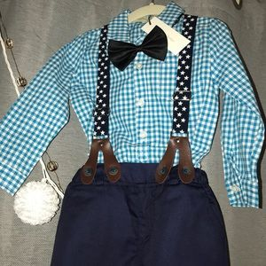 Other - Boys Shirt/Pants set with Suspenders